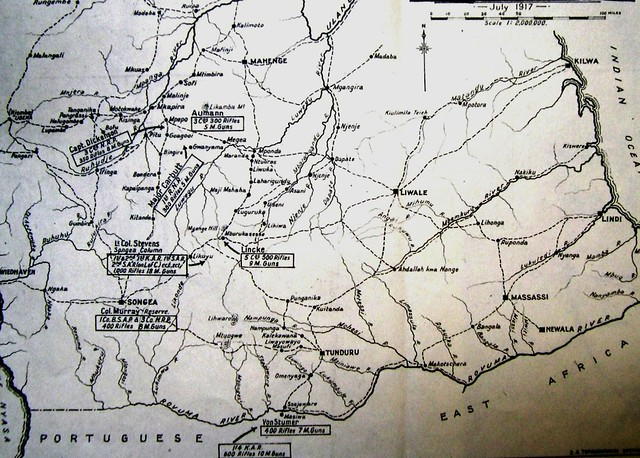 The July 1917 tactical situation in southern GEA
