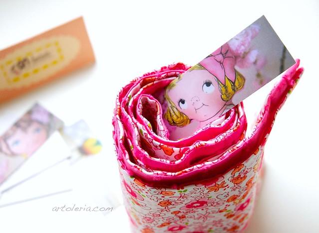 ANhandmade design, floral scarf