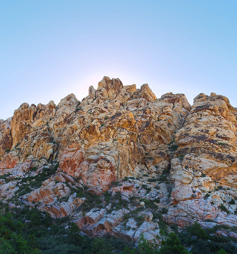 red rock sunrise rocks colorful desert nevada canyon
