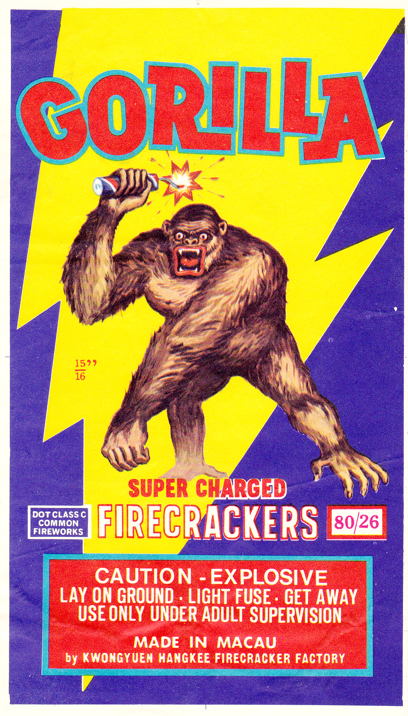 Gorilla - Firecracker Brick Label
