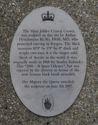 Plaque in St Katherine's Dock