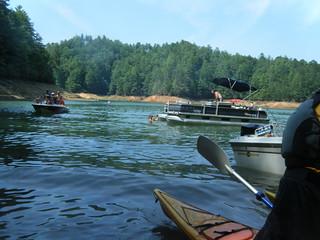 Boats at Mill Creek Falls
