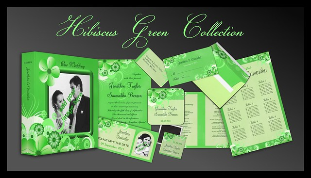 Green Hibiscus Floral Wedding Collection