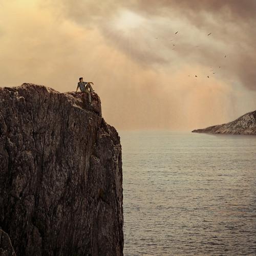 [フリー画像素材] グラフィック, フォトレタッチ, 男性, 人物 - 海 ID:201207221600