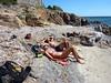 Plage avant Majalone : que c'est dur la randonnée littorale !