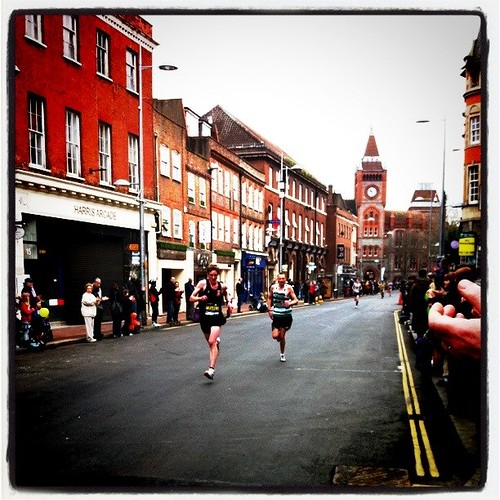 Minute ~33 of the Reading Half Marathon, March 2011