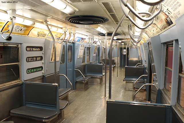 interior of a subway car nyctm flickr photo sharing. Black Bedroom Furniture Sets. Home Design Ideas