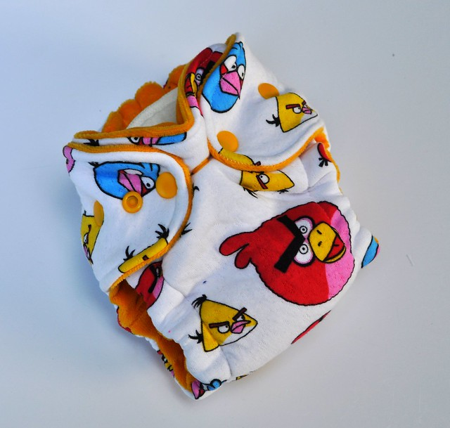 Bumstoppers Newborn Hybrid Fitted Angry Birds **New Style**