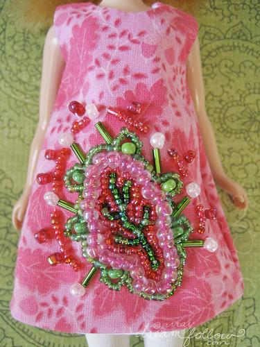 pink leafy