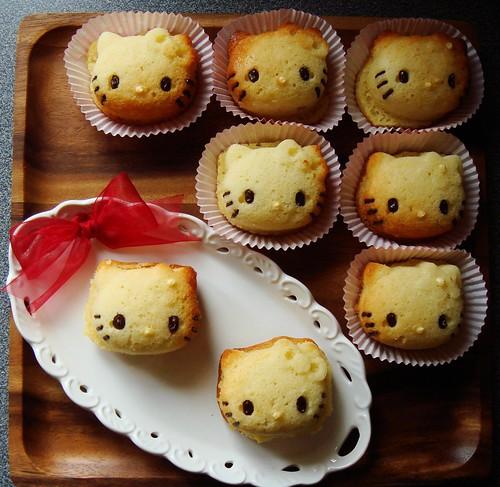 Hello Kitty Cupcake: Decorated