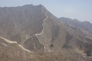 On the top of Huanghuacheng Wall