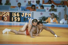 floor gymnastics(0.0), scholastic wrestling(0.0), individual sports(1.0), contact sport(1.0), sports(1.0), combat sport(1.0), freestyle wrestling(1.0), amateur wrestling(1.0), greco-roman wrestling(1.0), grappling(1.0), wrestling(1.0),