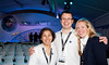 Virgin Galactic Team Member Louella, Tony and Louise. Photo by Mark Chivers