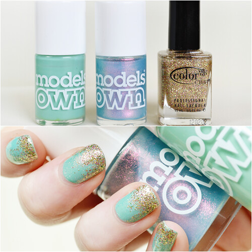 Models Own Indian Ocean NOTD Glitter Tips