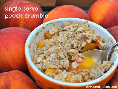 single serve peach crumble