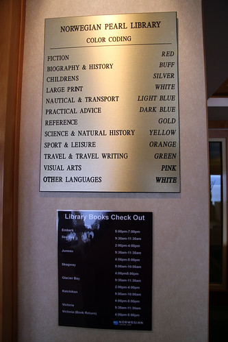 Norwegian Pearl - Library Signs