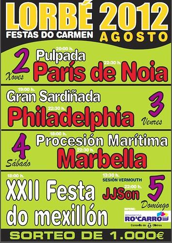Oleiros 2012 - Festas do Carme en Lorbé - cartel