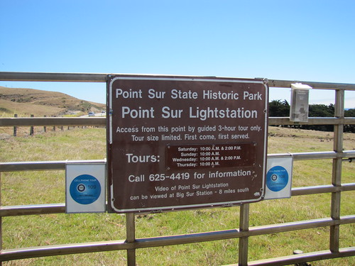 Entrance gate to Point Sur Lightstation