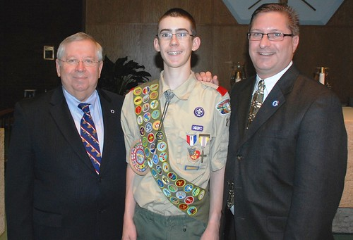 Moore recognizes local Scouting unit�s first Eagle Scout