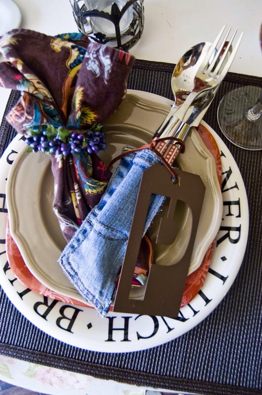 denim table decor