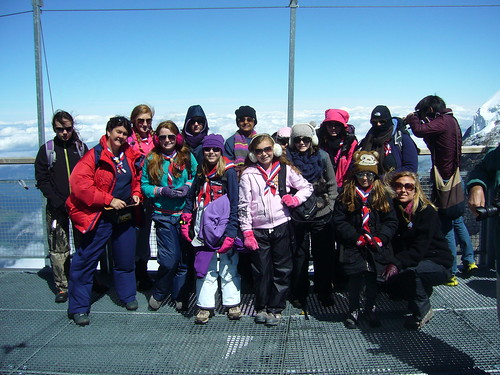 Epping Guides at the top of Jungfrau