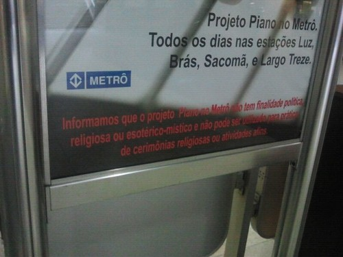 Piano no metrô