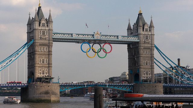 London Tower Bridge Olympics 2012