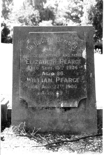 William Pearce's gravestone EDITED