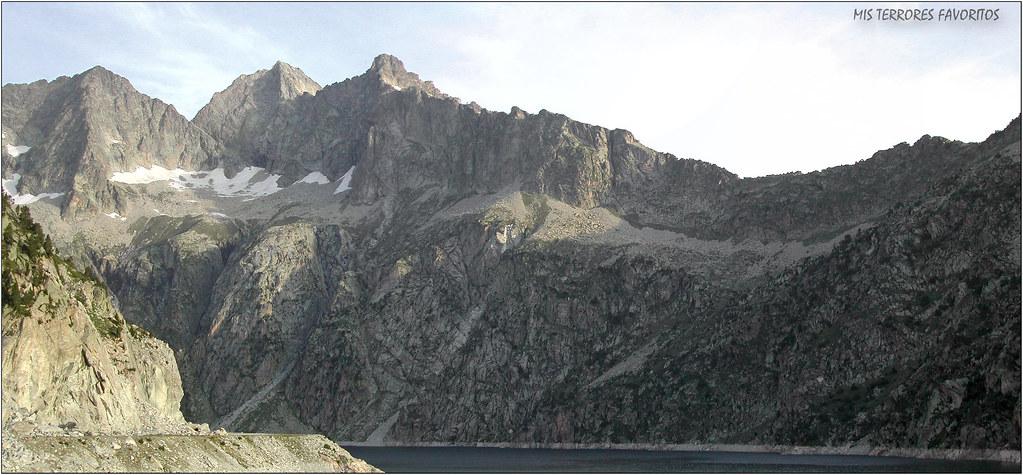 PICO NEOUVIELLE 3097 m - PANORÁMICA DESDE LAC DU CAP DE LONG