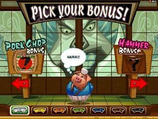 Karate Pig Karate Bonus