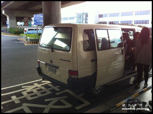 Rented a Volkswagen van to fetch all of us to our hotel in Taoyuan