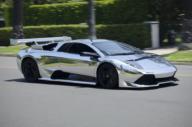 Chrome Lamborghini LP640