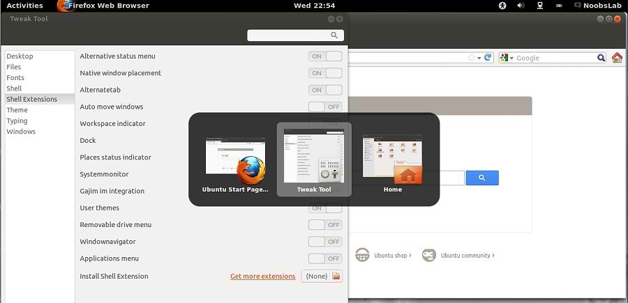 Install Gnome Shell 3 6 and Gnome Shell Extensions in Ubuntu 12 10