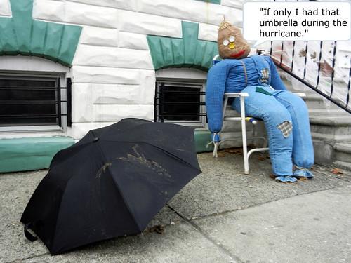 scarecrow with umbrella