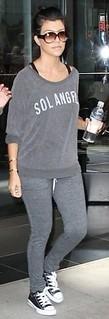 Kourtney Kardashian Converse Celebrity Style Women's Fashion
