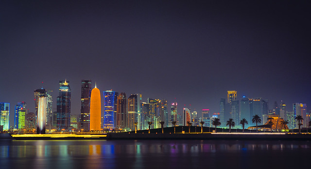 7 and New Doha Skyline I