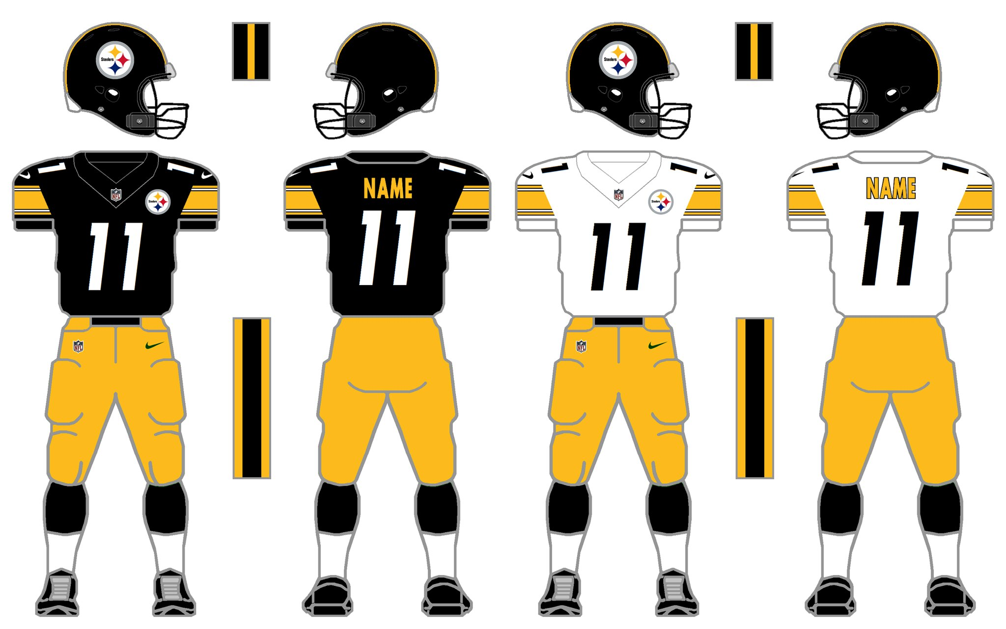 a7aca995506 ... the Steelers kinda upgraded this year and kinda downgraded this year.  They upgraded because the Nike Speed Machine uniform is very much superior  to the ...