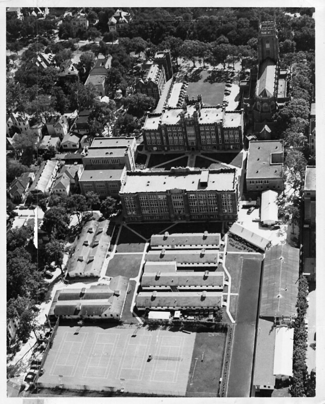 Aerial Image of Campus 1950s