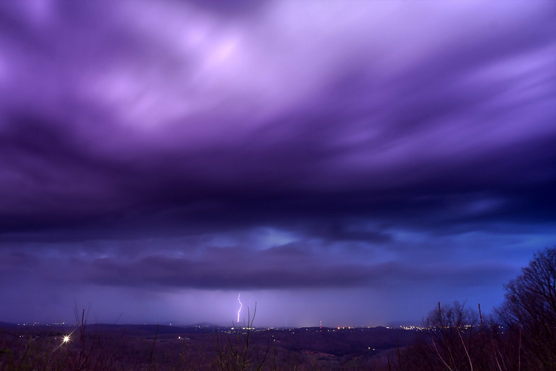 Lightning storm from Sunset Rock 2, White County, Tennessee