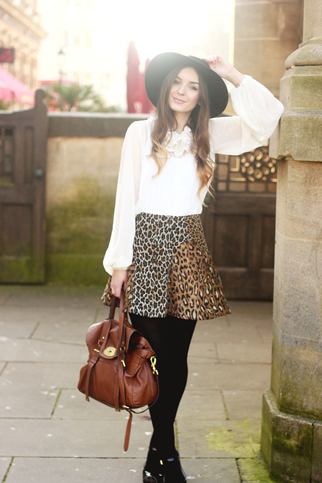 Antipodium Skirt ASOS Ruffle Blouse Seventies Inspired Look