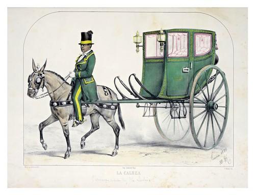 012- La caleza-Recuerdos de Lima, álbum, tipos, trajes y costumbres Vol 2-1857-Bonaffé A.A.