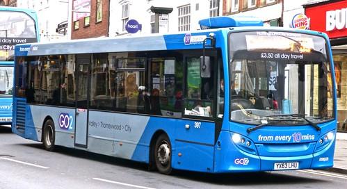 YX63 LFU 'Nottinghham City Transport' 397 ADL Dart / ADL Enviro 200. Dennis Basford's railsroadsrunways.blogspot.co.uk
