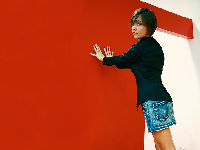 Valentina and the red wall