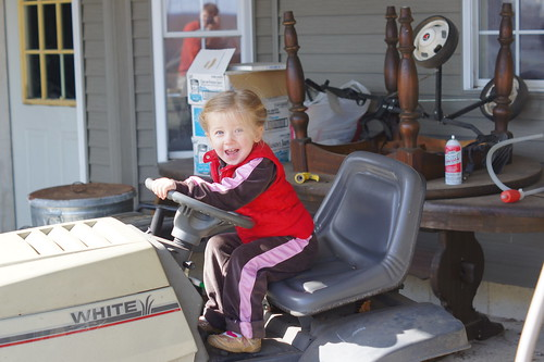 """I'm driving the tractor, daddy!!"""