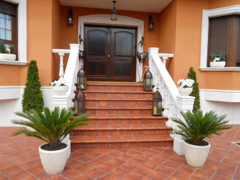 Escaleras entrada casa villa tenorio 1