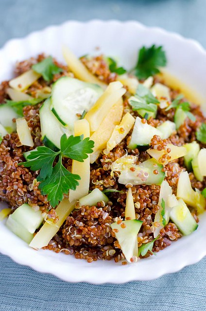 Zesty Red Quinoa Salad with Mango and Cucumber by Mary Banducci 4