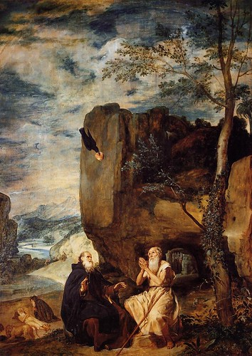 Diego Velazquez - St_ Anthony Abbot and St_ Paul the Hermit