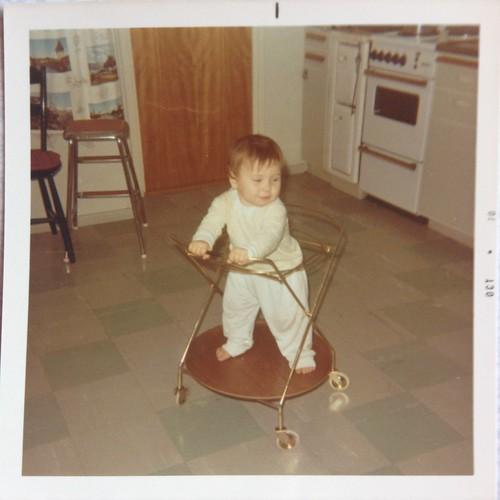 Kerstin hemma hos Lena 1970