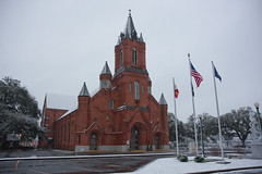 Snow at St. Landry Catholic Church - February 12, 2010
