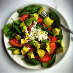 plant(0.0), greek salad(0.0), produce(0.0), fruit(0.0), spinach salad(1.0), panzanella(1.0), salad(1.0), vegetable(1.0), food(1.0), dish(1.0), cuisine(1.0),